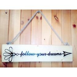 Napis rustykalny DREAMS...